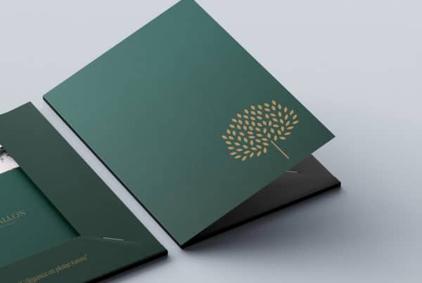 Campagne marketing communication architecture luxe papeterie print