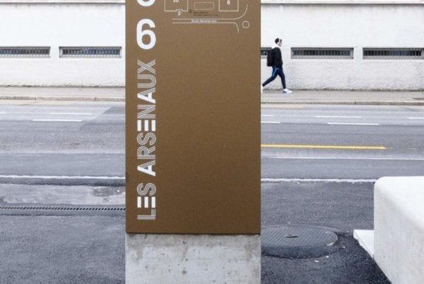 Signalétique identité visuelle architecture Fribourg