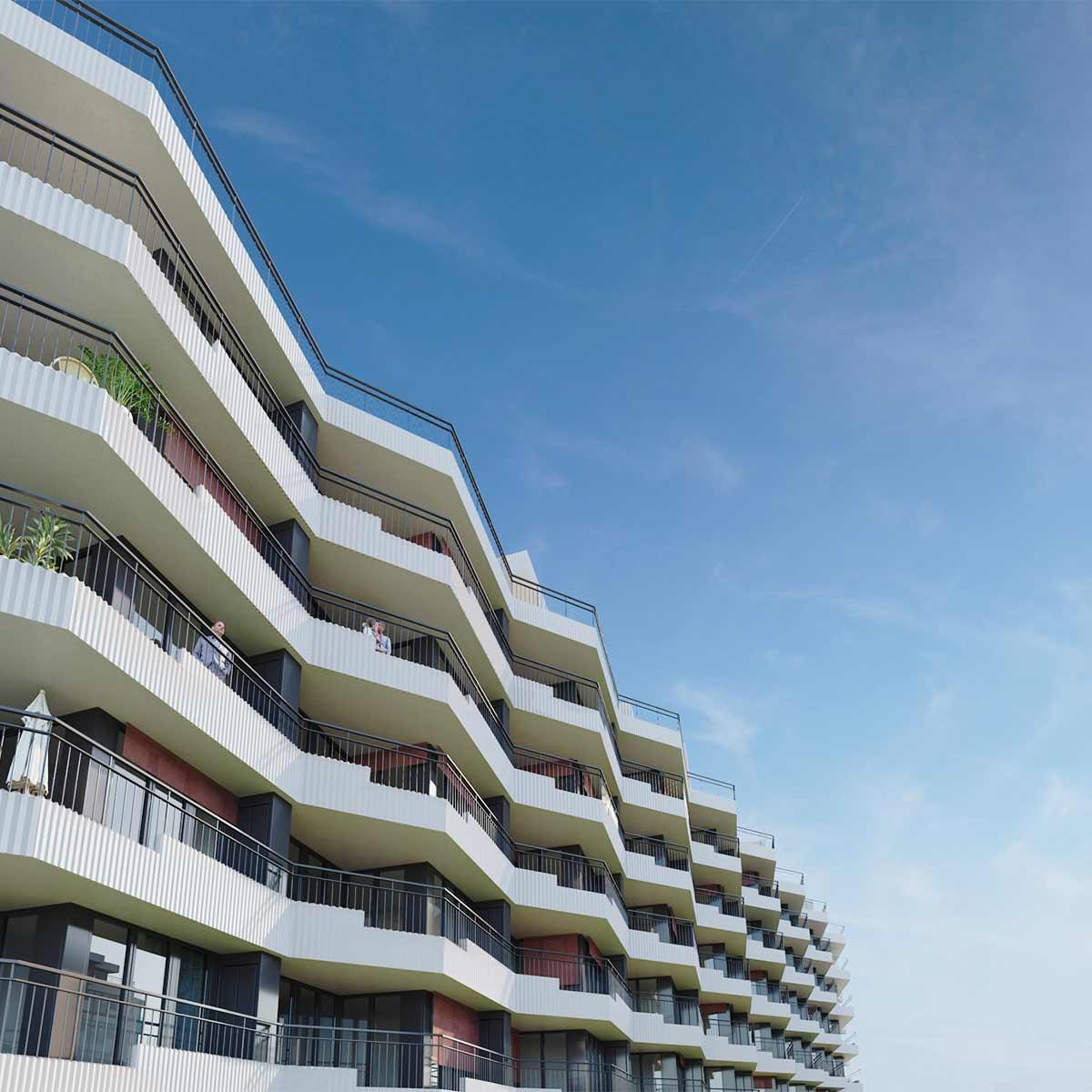 Images 3d immobilier promotion résidentielle PPE Vaud